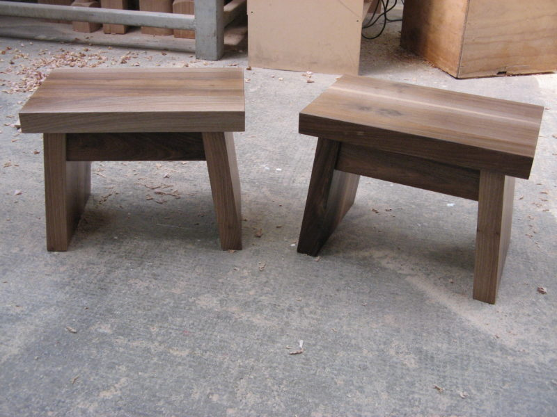 Walnut Step Stools