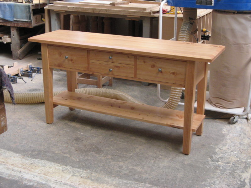 Four-Drawer Hall Table