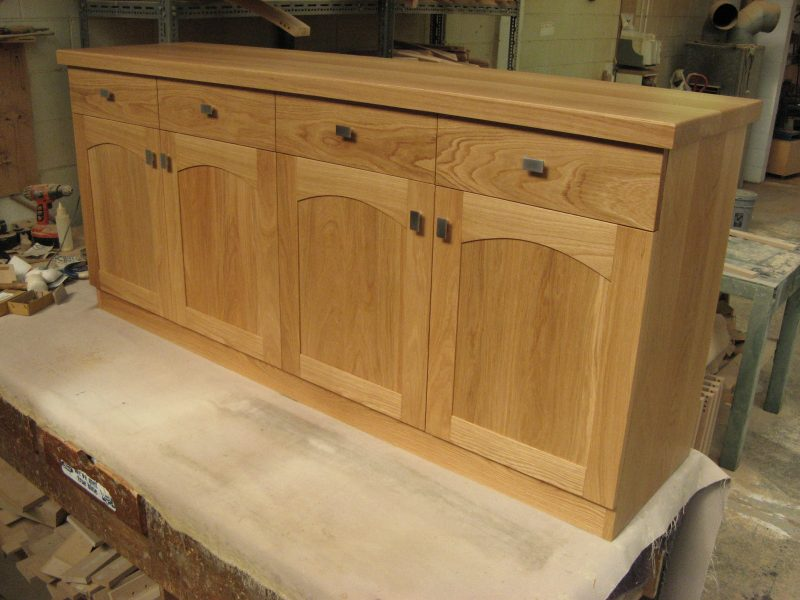 Oak 4 Drawer and Door Buffet